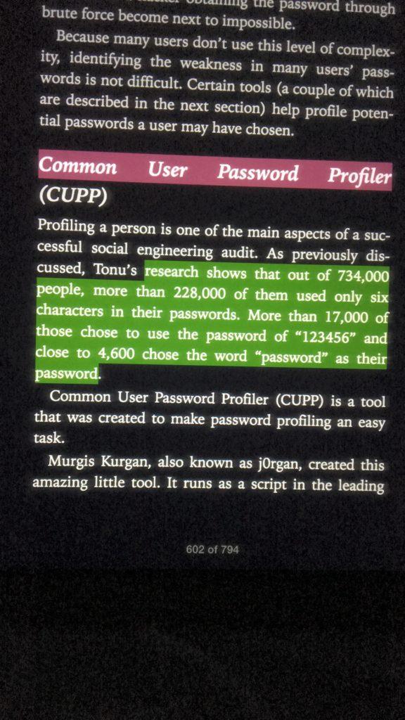 Excerpt: Passwords