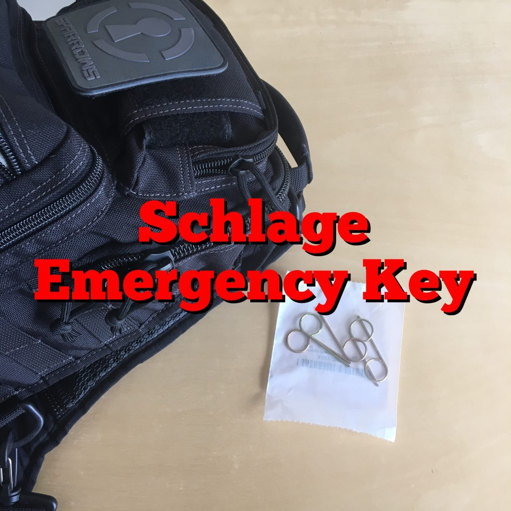 Schlage Emergency Key Uncensored Tactical